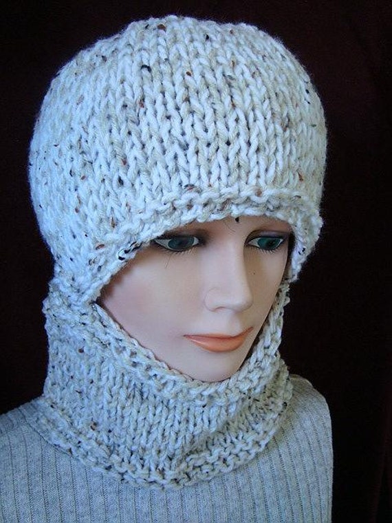 KNITTING PATTERN hat Easy Balaclava or hat and cowl | Etsy