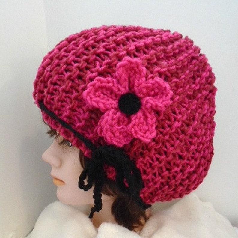 108b3257e HAT KNITTING PATTERN , knit flower pattern, boy, girl, children, adult,  men, women. num 939- beginner knit hat pattern