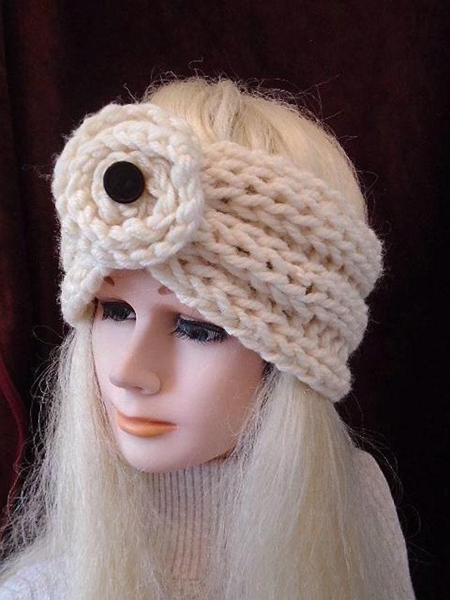Chunky Style Ribbed Turban Headband Knitting Pattern Knit Etsy