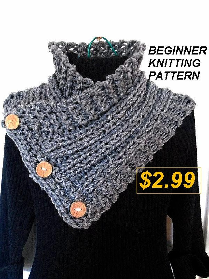 Knit Scarf Pattern Scarf Knitting Pattern Hectanooga Side Etsy