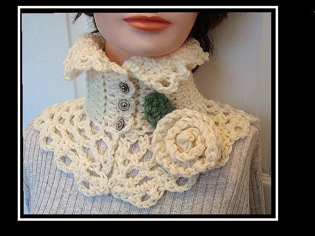 Crochet Pattern Neckwarmer Collar Scarf Num 179 Carmella Etsy