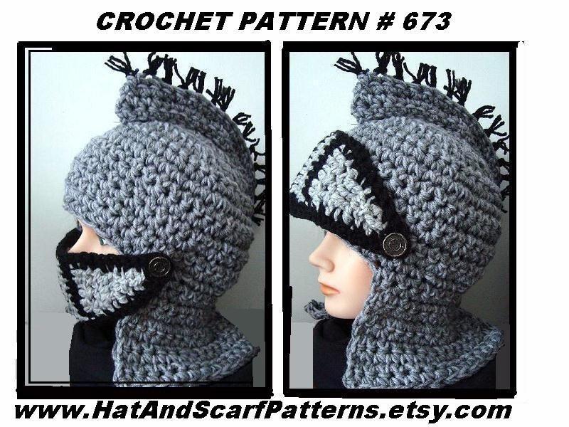Knight Helmet Hat Crochet Pattern Medieval Viking King Etsy
