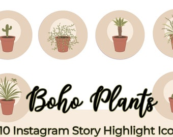 Boho Plants Instagram Story Highlights Icons Iphone IOS Apps