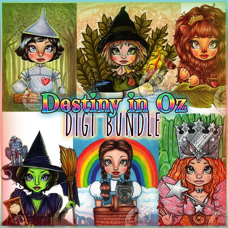 6f84cdfc0afe0 Wizard of Oz Destiny series 6 Digis BUNDLE UNCOLORED Digital