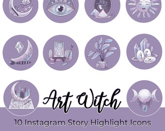 Art Witch Instagram Story Highlights Icons Iphone IOS Apps