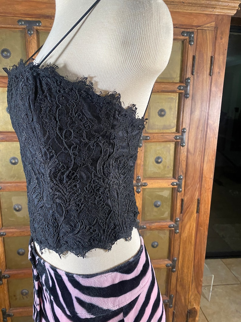Lace Corset Bustier Bust 32-34 A-C waist 30 to 32 inches
