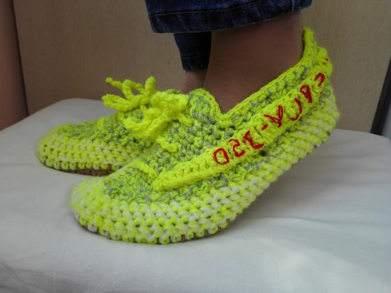 arrives a433e 7f859 Crochet Yeezy Slippers, Yeezy Boost 350 V 2, Semi Frozen Yellow Yeezy,  Yeezy Boost 350 V2 Zebra, Woman Yeezy, Neon Yellow Yeezy