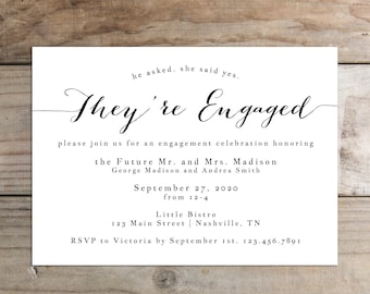 Printable Engagement Party Invitation - the Sue Collection