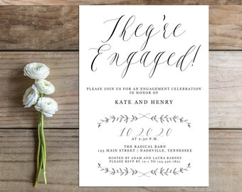 Printable Engagement Party Invitation - the Katherine Collection