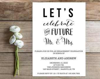 Printable Engagement Party Invitation - the Tabitha Collection