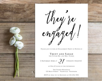 Printable Engagement Party Invitation - the Angie Collection