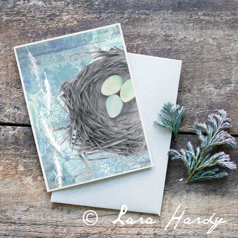 Bohemian Birds Nest Greeting Card image 0