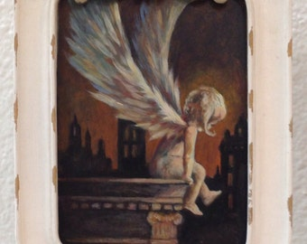 The Little Angel, wings, art, painting