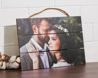 Picture Frame Personalized Rustic Wood Custom Pictures Pallet Sign Wedding Gift