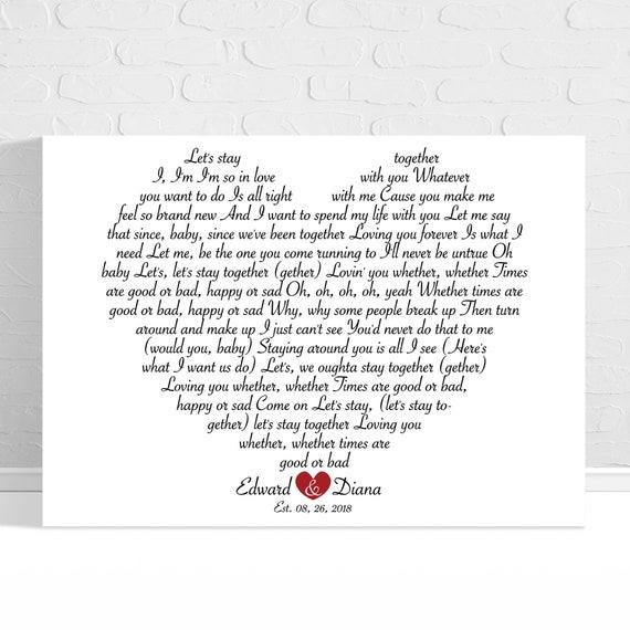 First Dance Lyrics On Canvas Wedding Song Lyrics Wall Art Custom Song Lyric Art Wedding Vows Anniversary Gift Personalized Lyrics Gift