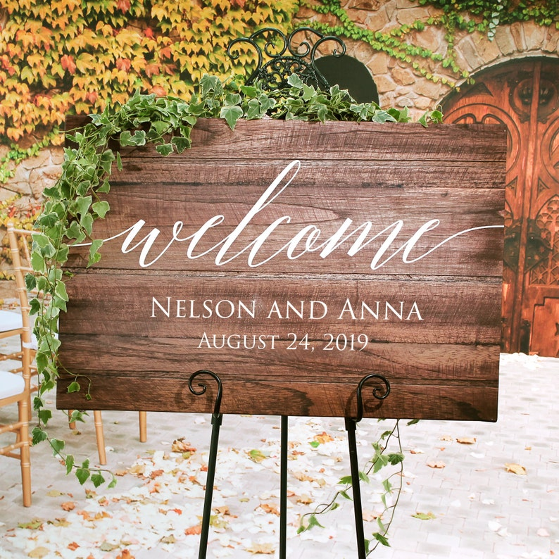 Wooden Wedding Signs.Rustic Wedding Welcome Sign Wood Rustic Wood Wedding Sign Welcome Wedding Signs Wooden Wedding Signs Painted On Canvas Easel Not Included