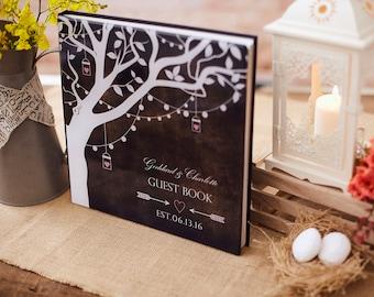 Wedding Guest Book Ideas - Alternative to a Guest Book - Rustic Wedding Guest Book Tree - Rustic Wedding Decor - Acrylic Glass Cover - GB#10