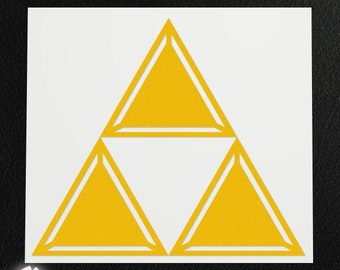 Vinyl Decal - Triforce (Detailed)