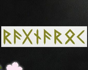 Vinyl Decal - Ragnarök in Runes