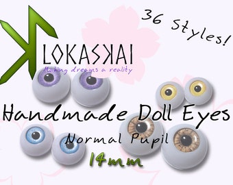 BJD Eyes - 14mm - 36 Styles!