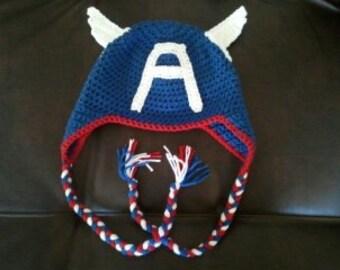 Captain America Crochet Hat