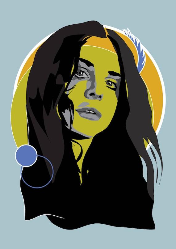 Lana Del Rey Coachella Woodstock In My Mind Art Print Etsy