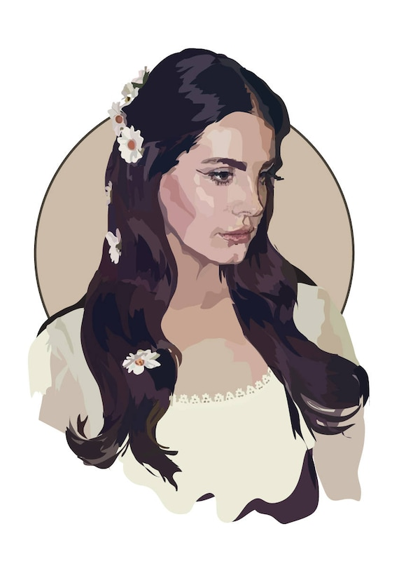 Lana Del Rey Lust For Life Art Print Etsy