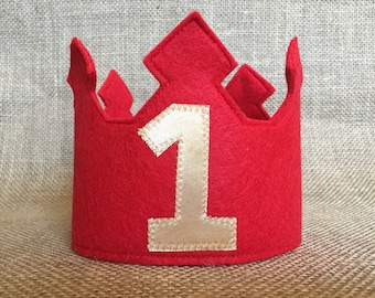 Handmade Custom Felt Birthday Crown