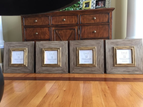 Brown Frames Gold Frames Distressed Frames 8x8 Frames Etsy