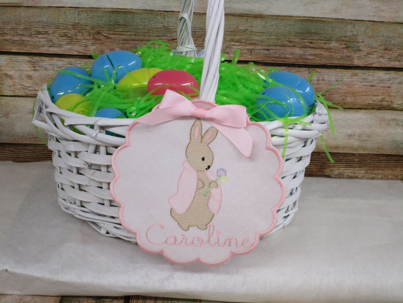 Easter Basket Name Tag Easter Basket Tag Basket Tag Personalized Easter Basket Tag Easter Bunny Tag Easter Decoration