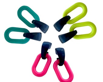 Colorful Acrylic Earrings, Fashionable Multicolor Acrylic Earrings