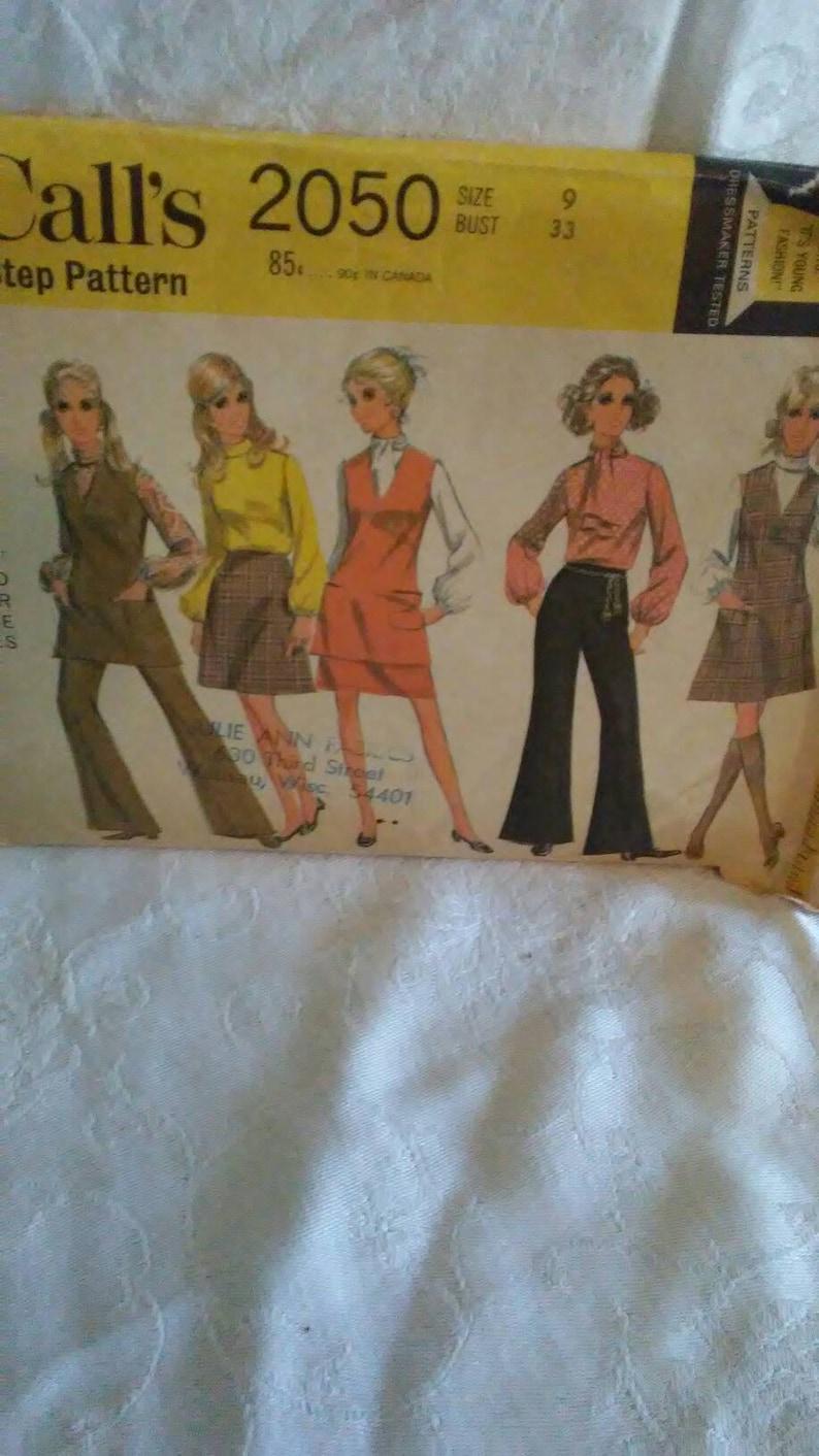 Sale Vintage 1960s Mccalls Sewing Pattern Juniors Size 9 Mini Etsy