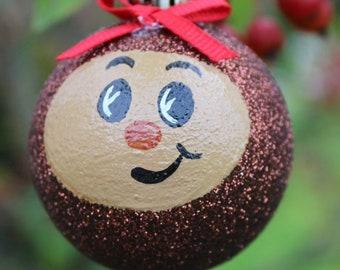2  (2inch) Ohio State Buckeye Ornaments, Brutus Buckeye Christmas Tree Ornaments