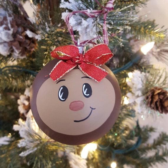 Ohio State Buckeye Christmas Ornament Ohio State Football | Etsy