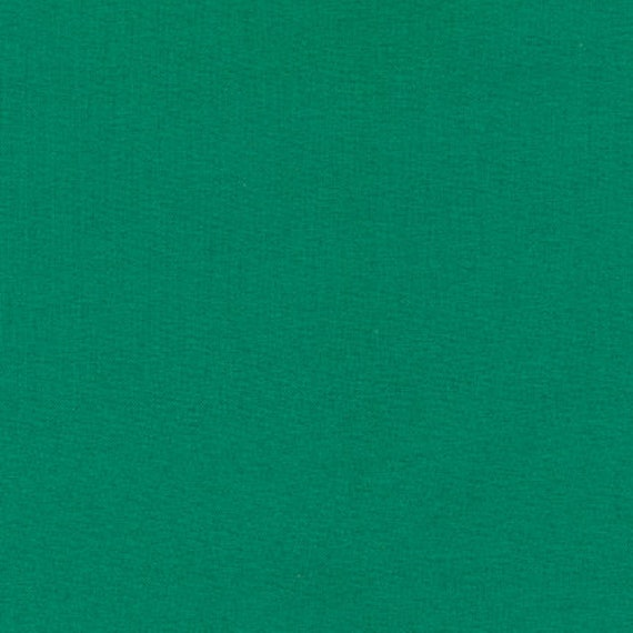 "By The Yard-Robert Kaufman Kona Cotton-/""Holly/"" Green"