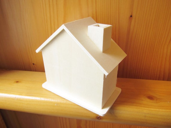 Diy Wood House Money Box Kids Party Gifts Kids Craft Etsy