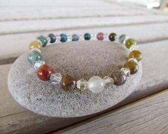 Gentleness: Jasper and Crystal Yoga Bracelet