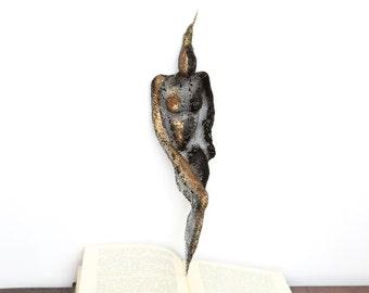 Night girl. Metal Wire metal mesh sculpture. OOAK. Wall Home Office decor Wall art  Metal art sculpture  Unique gift. Bronze. Black. 3D.