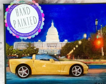 Custom Vehicle Painting, Commission Car Portrait, Commission Portrait, Oil Car Painting, Custom Car Painting
