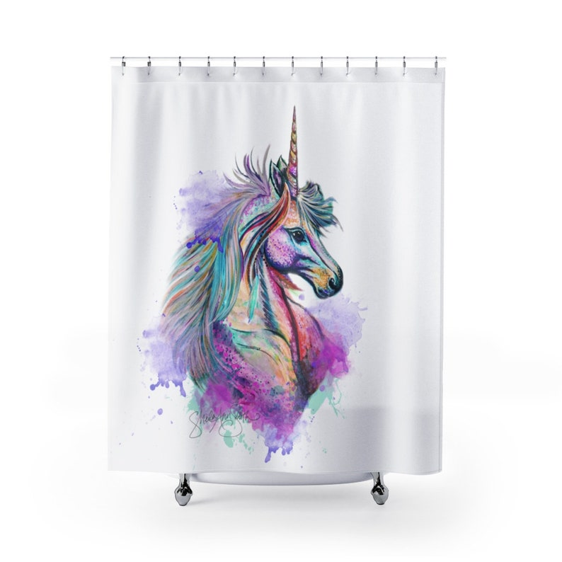 Unicorn Shower Curtain Bathroom Decor Home