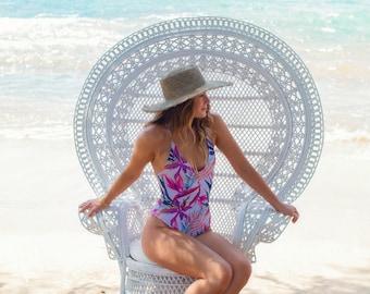 Reversible Tropical One Piece Bikini