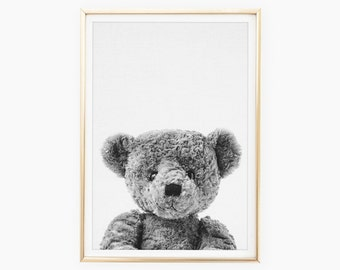 Teddy Bear Wall Art Etsy