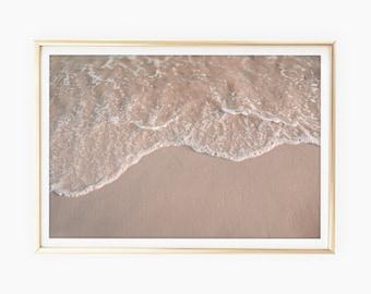 Beach Prints, Beach House Wall Art, Modern Beach Decor, Printable Ocean Water Photo, Tropical Prints, Large Poster, Minimalist Art Download