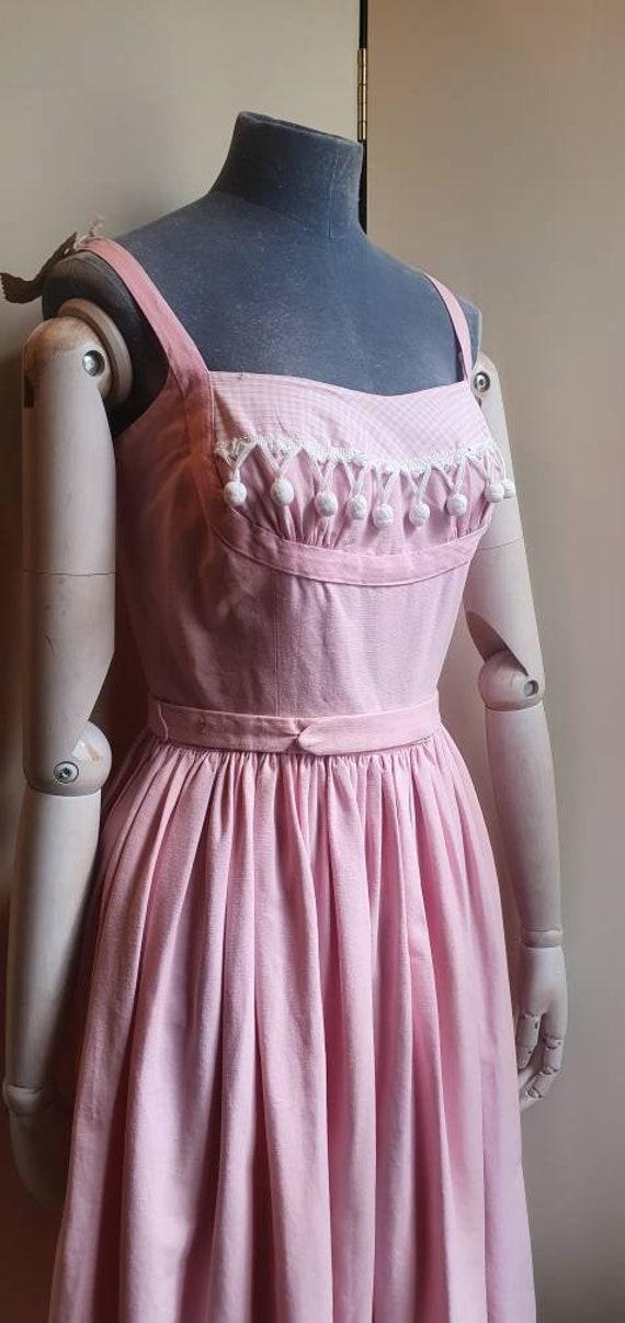 Vintage 1950s denim western dress - image 2