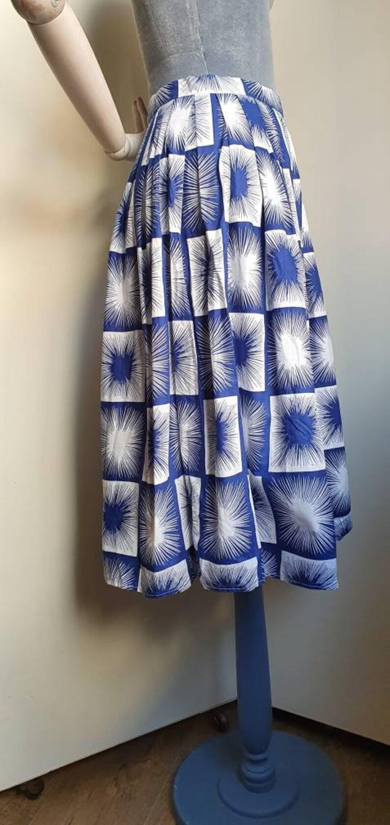 Vintage 1950s novelty print atomic skirt