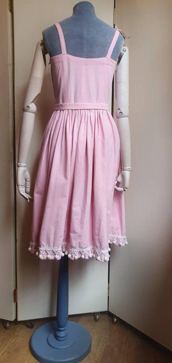 Vintage 1950s denim western dress - image 9