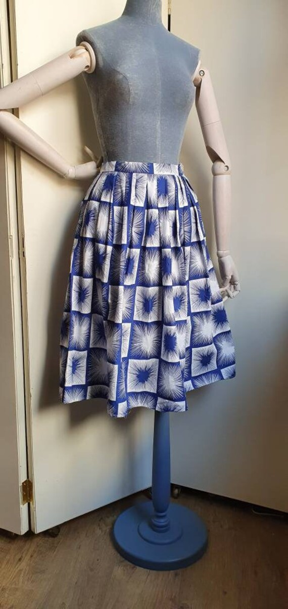 Vintage 1950s novelty print atomic skirt