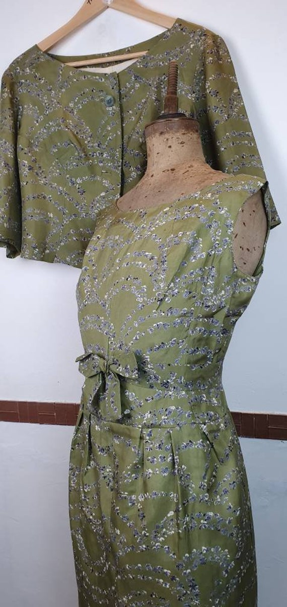 Vintage 1950s silk two piece