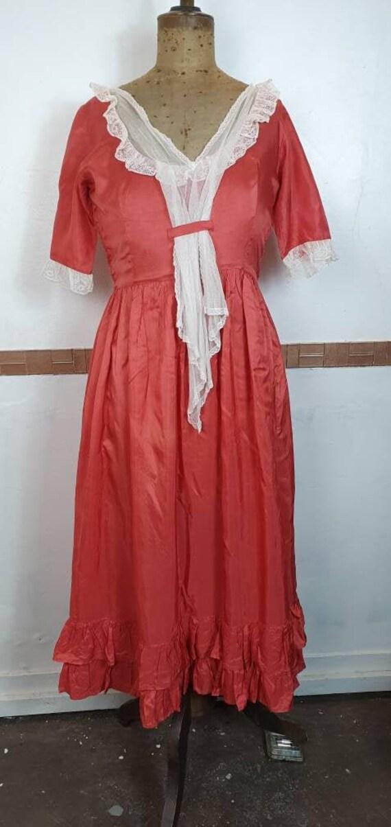 Original 1930s dress pink dress