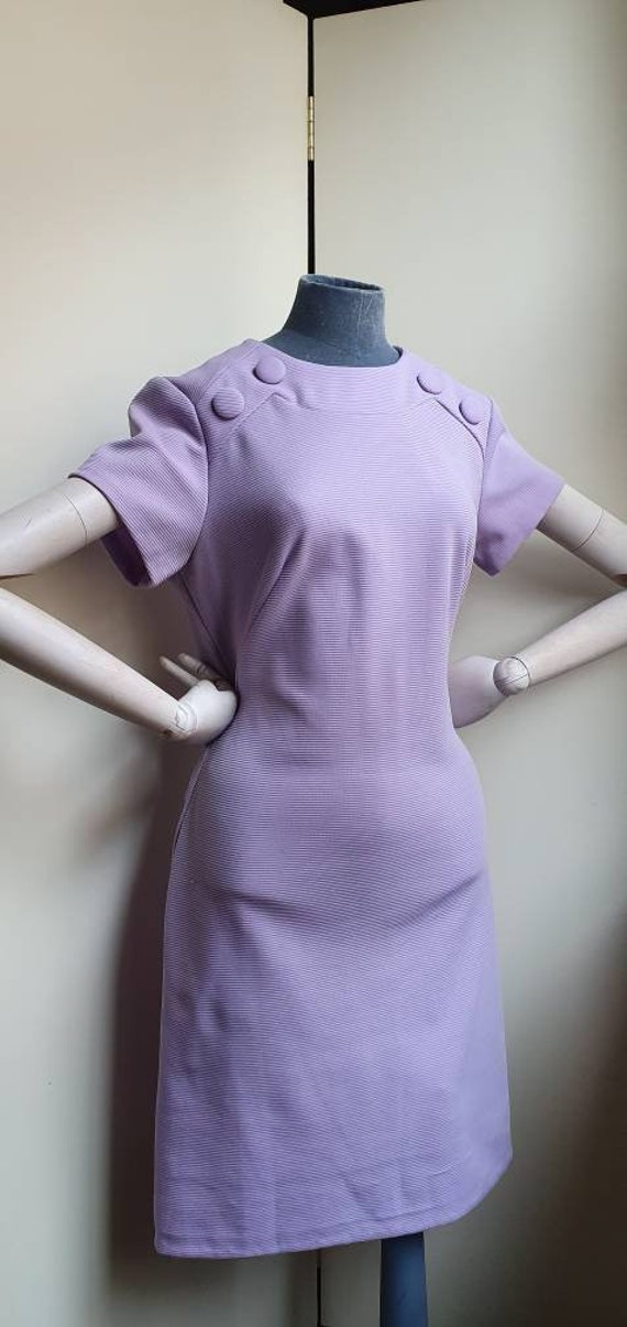 Vintage 1960s Lilac Mod wiggle dress